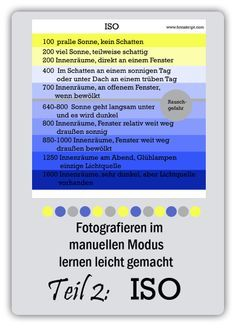 Fotografieren im manuellen Modus lernen Teil 2 ISO Photography Tips Iphone, Photography Lessons, Photoshop Photography, Mobile Photography, Photography Business, Photography Tutorials, Digital Photography, Amazing Photography, Macro Fotografie