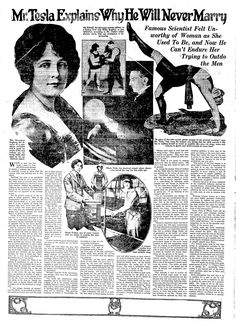 I've been researching Nikola Tesla quite a lot lately.  I decided to go ahead and post this article I found in the Newspaper Archives.  I th...
