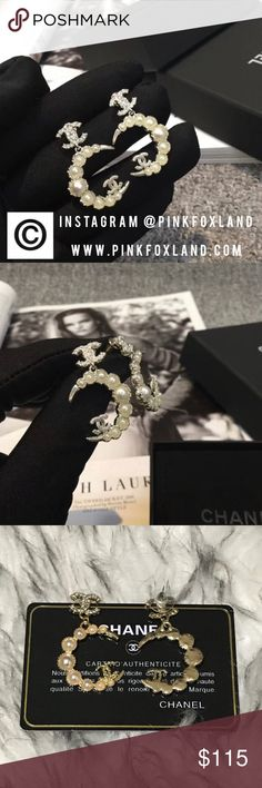 Chanel moon new collection gold earrings New in box! High quality. Price tells everything. Follow us on instagram: @PinkFoxLand for updates and promotion CHANEL Jewelry Brooches