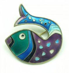 David Andersen 1960s fish brooch