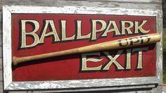 Original #  baseball sign  by   ZekesAntiqueSigns@etsy