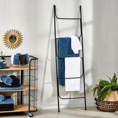 FERRA Ladder zwart H 161,5 x B 45 x D 1,6 cm_ferra-ladder-zwart-h-161,5-x-b-45-x-d-1,6-cm Ferrat, Ladder Decor, New Homes, Home Decor, Parents, Interiors, Shopping, Home, Black Stairs