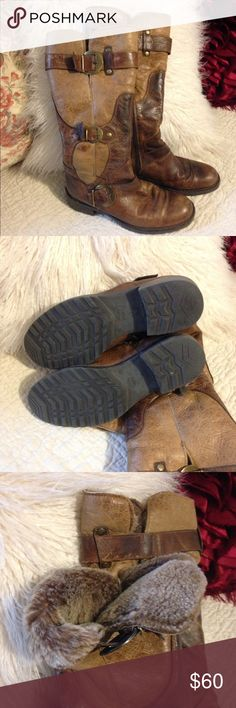 Mamas Wear Boots sz 38 Mamas Wear Boots.  Sz 38.  Worn 4-5 times.  Great condition.  Fur in top of boot.  Zipper at ankle.   Very cute boots. Manas Wear Shoes Winter & Rain Boots
