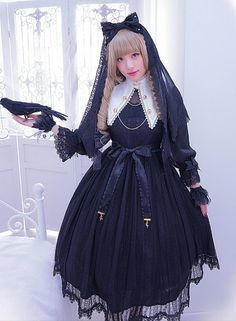 nice Angel's Heart -The Laws of Alchemy- Lolita OP Dress Lolita Cosplay, Cosplay Dress, Visual Kei, Mode Lolita, Lolita Style, Kawaii, Harajuku Fashion, Harajuku Girls, Estilo Lolita