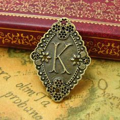 10 pcs Antique Bronze Letter K Charms Alphabet Charms 32x22mm ch0083. by kinacraft via Etsy.