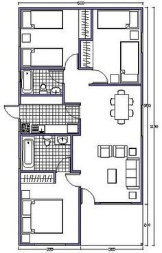 L shaped 50 sqm granny flat plan My House Plans, Small House Plans, House Floor Plans, Small Tiny House, Small House Design, Home Design Plans, Plan Design, Granny Flat Plans, Casas Containers