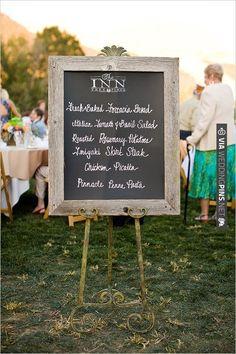 chalkboard menu sign | VIA #WEDDINGPINS.NET
