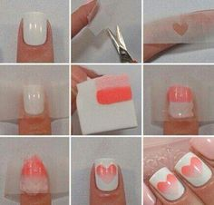 Neat Valentines day nails