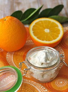 Orange coconut whipped body butter