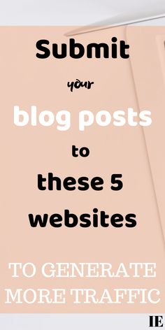 5 Websites To Generate Traffic Blog Topics, Le Web, Blogger Tips, Make Money Blogging, Blogging Ideas, Blogging For Beginners, News Blog, Copywriter, How To Start A Blog