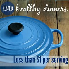 These healthy dinner recipes will make it easier to meal plan on a frugal budget. Each recipe costs less than $1 per serving, and they taste delicious.