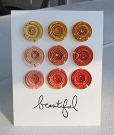 rolled flowers using paint chips!