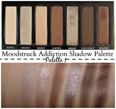 Younique Moodstruck Addiction Shadow Palette 1 (swatches) #YouniqueBeauty #ad