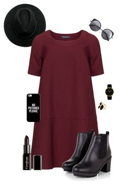 """""""Formal Grunge"""" by demotthan ❤ liked on Polyvore featuring Manon Baptiste, Casetify, Wood Wood, Larsson & Jennings, River Island and Gorgeous Cosmetics"""
