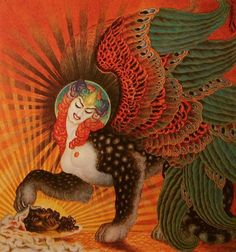 Salome Sphinx by Nicholas Kalmakoff 1926 Another new favorite fantastical artist! Mythological Creatures, Fantasy Creatures, Mythical Creatures, Gravure Photo, Le Sphinx, Tarot, Art Visionnaire, Religion, Visionary Art