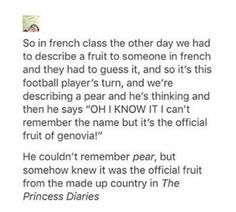 """princess diaries forever in our hearts..reminds me of """"oh sorry for my terrible English, it is not my first language"""" when they speak better than I do"""