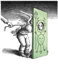 Mana Neyestani é um famoso cartunista nascido no Teerã, capital do Irã. Formado em arquitetura, ele começou a desenhar em 1989.