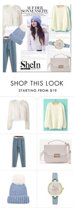 """sheIn 10"" by leagoo ❤ liked on Polyvore featuring Giamba, Eugenia Kim, Kate Spade and vintage"