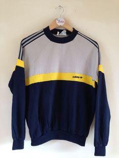 Vintage Adidas Sweatshirt Grey/Navy XS
