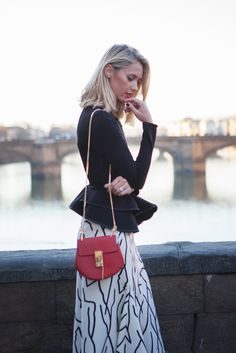 Style Lab: Ponte Vecchio with CHLOE' bag and GIVENCHY jacket.