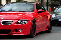 BMW candy red M6.
