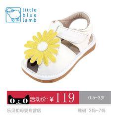 Little Blue Овцы подлинные 2015 летние сандалии Jiaojiao 1-2-3 лет девушка обувь детская обувь малыша обувь обувь 5509 Производительность