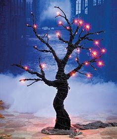 "52"" Orange LED Lighted Tree Creepy 3D Branch Twig Spooky Scary Haunted House Decor Prop Indoor Outdoor Yard Decorator KNL Store http://www.amazon.com/dp/B00KZZP2L2/ref=cm_sw_r_pi_dp_VBArub1A38WE8"