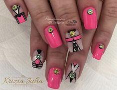 Unhas geométricas decoradas (Modelos de nail art que VÃO BOMBAR)