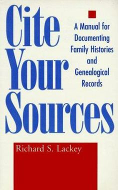 A how-to guidebook for those wishing to document their genealogical research in academically acceptable form. Uncomplicated directions and clear examples from Bibles, wills, letters, interviews, public records, etc.