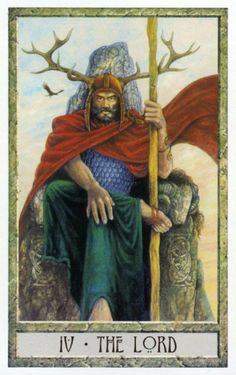 4 - The Lord ~ Tarot des Druides : Philip & Stephanie Carr-Gomm