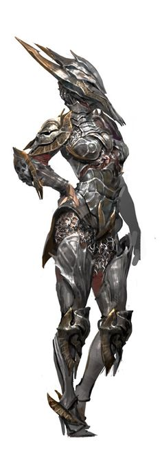Yes... Well, it's not bad. The stiletto boots are a terrible idea. Intimidating mask would be good for lowering enemy moral. Very well protected, though the armor seems a bit too form fitting to be as thick as it would need to be.
