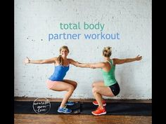 Buddy up for these 8 bodyweight exercises you can do with a friend. It's a total body workout including partner planks, squats, dips and crunches! Buddy Workouts, Fun Workouts, Workout Fun, Workout Routines, Bowflex Workout, Partner Yoga, Partner Exercises, Acupuncture For Weight Loss, Friends Workout