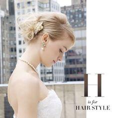 #NOVARESEatoz H is for Hairstyle  顔周りをより美しく見せるヘアスタイル。素敵なヘアスタイルは、スタイリングを完成させる最も重要なアイテムと言っても過言ではありません。イメージをしていくという楽しみとともに、具体的にどのようなスタイルがマッチするのかを見つけていく楽しみもあります。それはまるで美しい絵画に額縁を選ぶようです。  #bride #hairstyle #bridal #weddinghair #hair #headaccessory #wedding #weddingdress #weddingstyle #sweet #loveit #beautiful #bridetobe #crystal #beauty #instawedding #instalike #ウエディング #ウエディングヘア #髪型 #ヘアスタイル #コーディネート #結婚式準備 #プレ花嫁 #花嫁 #ノバレーゼ #NOVARESE