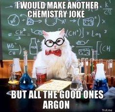 Chemistry Science Lab Cat Pun Picture