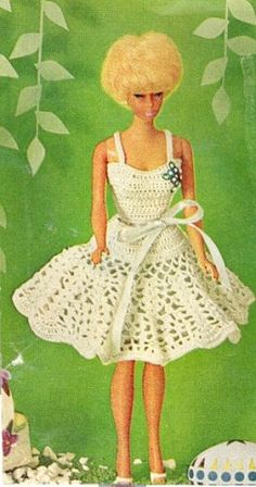 barbie+crochet+ball+gown+patterns+free | ... barbie clothes crochet knitting sewing barbie crochet patterns 25