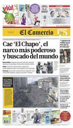 """Buenos días, esta es nuestra portada de hoy, domingo 23/02/14: """"Cae 'El Chapo', el narco más poderoso y buscado del mundo"""""""