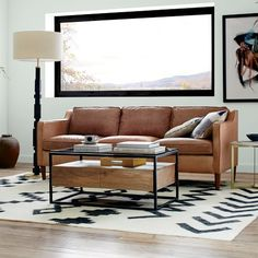 Tips That Help You Get The Best Leather Sofa Deal. Leather sofas and leather couch sets are available in a diversity of colors and styles. A leather couch is the ideal way to improve a space's design and th 1950s Furniture, Dining Room Furniture, Living Room Designs, Living Room Decor, Living Spaces, West Elm, Hamilton Sofa, Estilo Interior, Best Leather Sofa