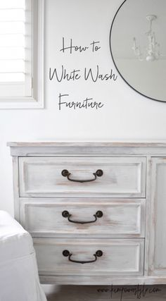 How to white wash furniture, a simple, easy tutorial. #bedroomfurniture
