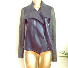 Super cool Jacket Super cool jacket with gold sleeves and vegan leather Kut from the Kloth Jackets & Coats