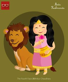 Illustration : Kushmanda avatar of Goddess Durga