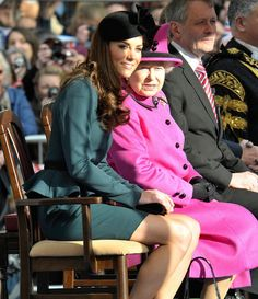 Kate and the Queen are a royal success in Leicester