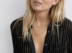 Missoma Gold Dagger double chain Necklace