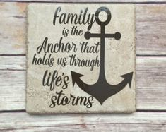 Beach Decor Nautical Signs Beach House by SawdustAndSunshowers Family Wall, Family Signs, Family Quotes, Diy Wood Signs, Pallet Signs, Hope Sign, Anchor Signs, Nautical Signs, Frases