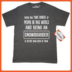 Inktastic Snowboarder Funny Job Gift T-Shirt Medium Retro Heather Black - Retro shirts (*Partner-Link)