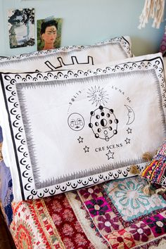 Moon Phases Pillowcase Homewares by Treeoflife