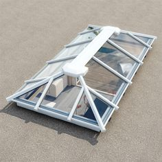 StepGlass Roof Lantern / Skylight for Flat Roofs Garden Room Extensions, House Extensions, Lime Paint, Roof Lantern, Plastic Trays, Lunch Room, Lanterns Decor, White Doors, Flat Roof