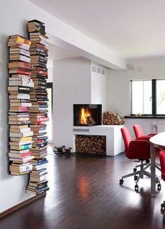 DIY Idea: Stacks of Books as (Free!) Graphic Home Decor