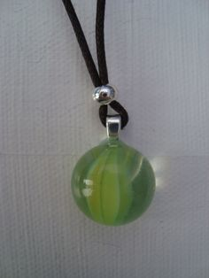 recycled marble pendant. Flattened marble. Fused glass