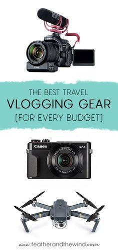 The Best Travel Vlogging Gear For Every Budget - Feather and the Wind Travel Couple Best Vlogging Camera, Best Camera, Vlog Camera, Film Camera, Travel Vlog, Travel Videos, Travel Hacks, Budget Travel, Photos
