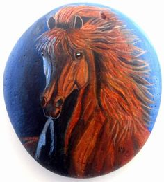Incredible horse.  - painted rock